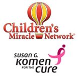 Susan G Komen for the Cure and The Children's Miracle Network